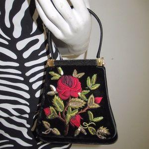 new JUDITH LEIBER handbag rose crystal vintage nwt